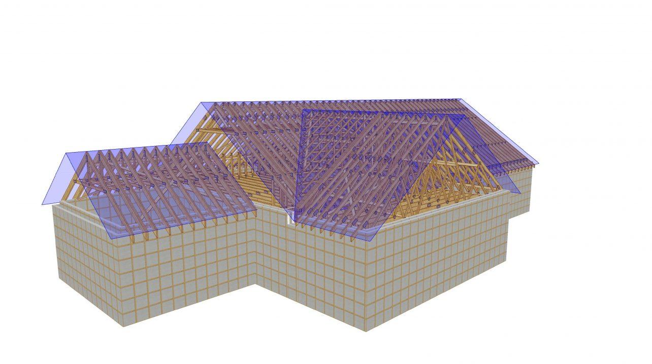 Murdock Roof Truss 3D Drawing