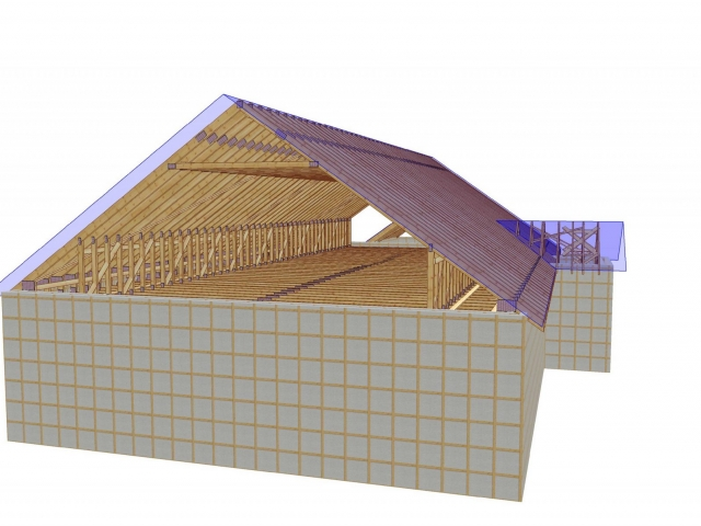 3D Roof Truss Drawing